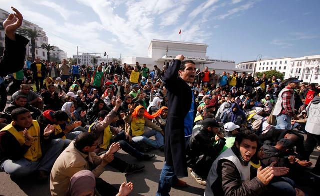 Διαδήλωση κατά των εκλογών - Μαρόκο